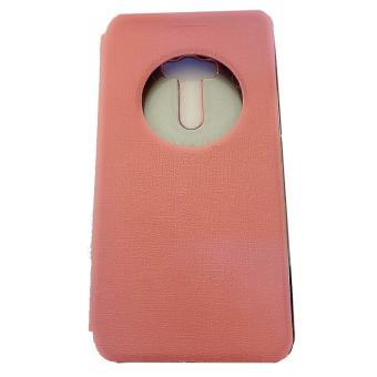 Ume Asus Zenfone Zoom ZX551ML View / Flipshell / Flip Cover / Leather Case / Sarung HP / Sarung Asus Zenfone Zoom - Pink