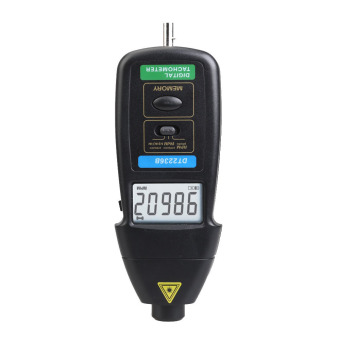 DT2236B 2 in 1 Portable Digital Photo Contact Tachometer 99,999 RPM - Intl - Intl