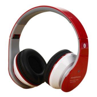 360DSC Foldable Wireless Bluetooth Headphone Headset Stereo Earphone with Mic - Red - intl
