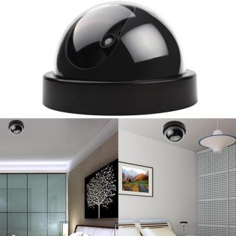 Harga Kamera CCTV Palsu Memimpin Pengawasan Keamanan Rumah Dome Merah Lampu Pendar (Hitam)