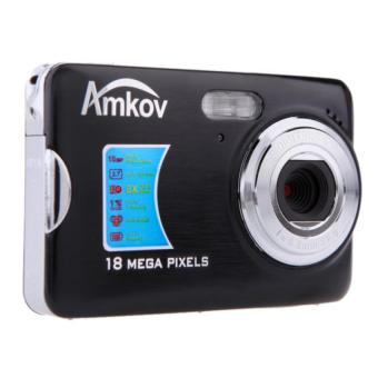 "AMKOV 12MP 2.7\"" TFT LCD HD Digital Camera Video Camcorder with Anti-shake 8X Digital Zoom (Black) - Intl"