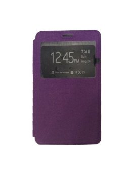 Ume Flip Shell / FlipCover for Samsung Galaxy A5 A500F / Samsung A5 Leather Case / Sarung HP / View - Ungu