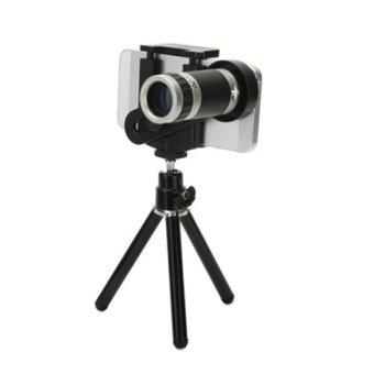 Mobile Phone Telescope 8x Zoom + Mini Tripod For iPhone 4