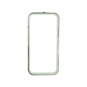 Fashion Sunyart Metal bumper with TPU protection for iPhone 5/5s Silver White