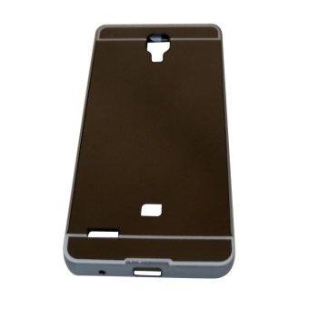 Harga Bumper Mirror Xiaomi Redmi Note Alumunium Metal Sliding Hardcase - Hitam