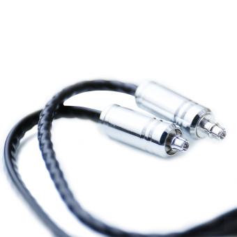 Hi fi ZY Kabel Shure SE215 315 425 535 empat inti memutar OFC kabel Upgrade ZY-065 (hitam)