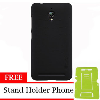 Nillkin Super Shield Hardcase 1mm ORIGINAL for Asus Zenfone Go – Black + Free Stand Holder