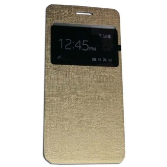 Ume Flip Shell / FlipCover for Samsung Galaxy A3 A300 / Samsung A3 Leather Case / Sarung HP / View - Gold