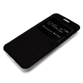 UME Flip Cover for Samsung Galaxy J7 Prime - BLACK/HITAM FREE UME Tempered Glass