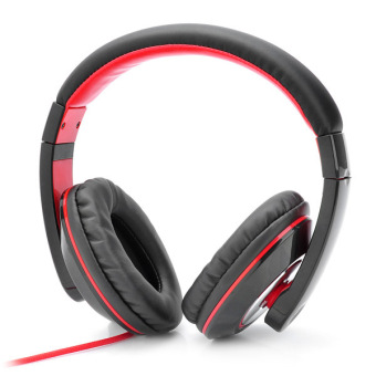 ZUNCLE Kanen IP-780 On-Ear Stereo Headset with Microphone for Iphone - Black + Red (3.5mm Jack/145cm-Cable)