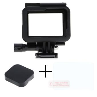 Vanker New Durable Standard Frame Mount Housing Case&Tempered Glass Film&Lens Cap For GoPro .