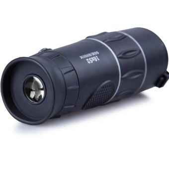 16 x 52 Zoom Monocular Telescope Low Light Level Night Vision Optics Zoom Lens with Compass Black