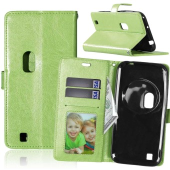 PU Leather Flip Stand Case Cover For Asus Zenfone Zoom ZX551ML (Green)