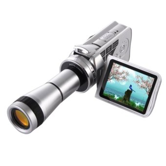 Handheld DV Camera Telescope Camera 8x Optical Zoom. HD720PCamcorder up to 30fps. Max 16.0 Mega Pixels Still PictureswithMusic Player / Voice Recorder / Wed Cam 8X Digital Zoom +9XBinocular Lens - intl
