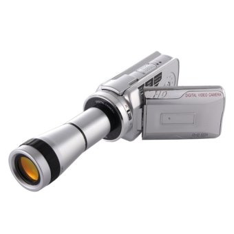 Handheld DV Camera Telescope Camera 8x Optical Zoom. HD720PCamcorder up to 30fps. Max 16.0 Mega Pixels Still PictureswithMusic Player / Voice Recorder / Wed Cam 8X Digital Zoom +9XBinocular Lens - intl
