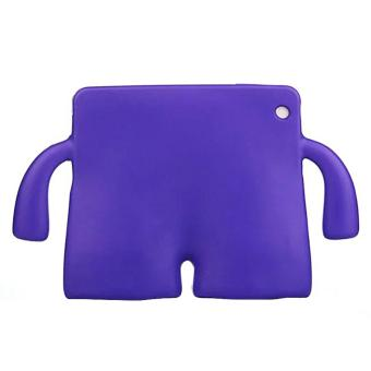 Portable Multi-functional Kids Thick Foam EVA Protective Cover Mini Anti-drop Flat Bracket for Samsung tab 3/4 10.1' (Purple) - intl