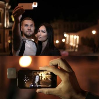 Flash Led Light For All Smartphone Lampu Selfie - Hitam