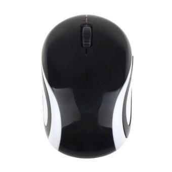 361 Manis Mini 2.4 gHz mouse optik nirkabel untuk Laptop Notebook mouse untuk PC (Hitam)