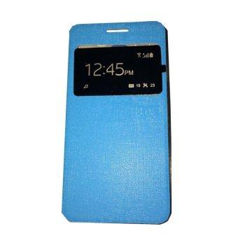 Ume Flip Shell / FlipCover for Samsung Galaxy A5 A500 / Samsung A5 Leather Case / Sarung HP / View - Biru Muda