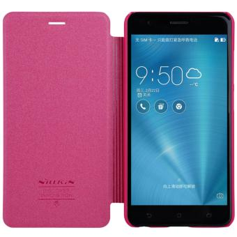 Nillkin Sparkle Series Book Type Ultra Thin Flip Up PU Leather Slim Cover Case for Asus Zenfone 3 Zoom ZE553KL - Red - intl
