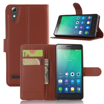 Harga Terbaru Litchi Wallet Leather Case For Lenovo A6010 Plus A6000