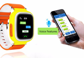2Cool Kids GPS Watch with Phone Call SOS Positioning Touch Screen Smart Watch for Kids Christmas Gift Orange Color - intl