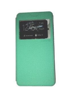 Ume Asus Zenfone 2 Laser ZE551KL Ukuran 5.5 Inch / Zenfone Laser View / Flip Cover / Book Cover / Flipshell / Case Cover / Leather Case / Sarung HP / Sarung Asus Zenfone Laser - Turquoise