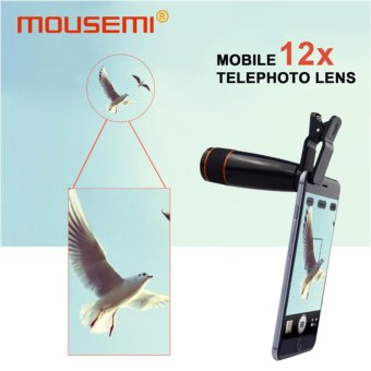 Universal Clip 12x Telephoto Lens For Mobile Phone Optical Zoom Telescope Camera Cell Lenses For iPhone 5s 6s 7 plus Smartphone - intl