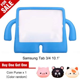 Portable Multi-functional Kids Thick Foam EVA Protective Cover Mini Anti-drop Flat Bracket for Samsung tab 3/4 10.1'(Blue) - intl