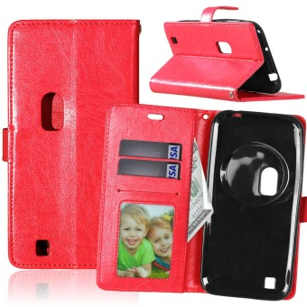 PU Leather Flip Stand Case Cover For Asus Zenfone Zoom ZX551ML (Red)