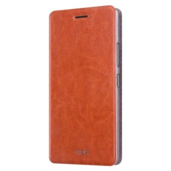 For ASUS ZenFone 3 Zoom / ZE553KL Crazy Horse Texture Horizontal Flip Leather Case with Holder(Brown) - intl