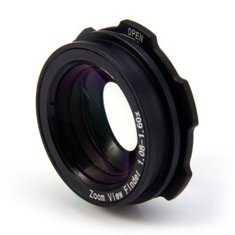 1.08 - 1.60X Zoom View Finder Eyepiece Magnifier for Sony Nikon Pentax Canon(Black)(OVERSEAS) - intl