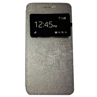 Ume Lenovo S660 Flip Shell / FlipCover / Leather Case / Sarung HP / View - Silver