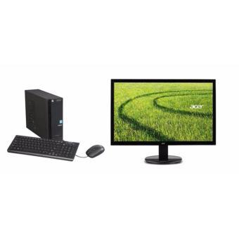 Jual ACER Aspire XC704G - RAM 4GB - Intel DualCore N3050 - Win10 - Bundling Monitor Acer LED K202HQL 19.5