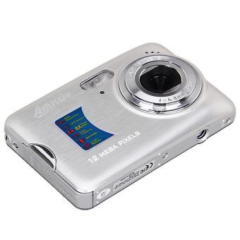 "AMKOV 12MP 2.7\"" TFT LCD HD Digital Camera Video Camcorder with Anti-shake 8X Digital Zoom (Silver) - Intl"