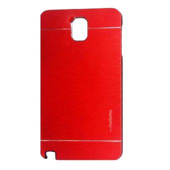 Harga Motomo Samsung Galaxy Note 3 Hardcase Backcase Metal Case - Merah