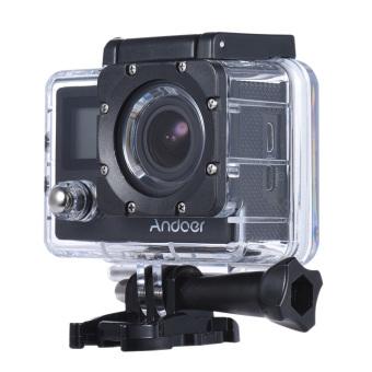 "Andoer 4K 30fps/1080P 60fps Full HD 16MP Action Camera Waterproof 30m WiFi 2.0\""LCD Sports Helmet Bike DV Cam Camcorder 170 Degree 4X Zoom Dual Screen Car DVR"