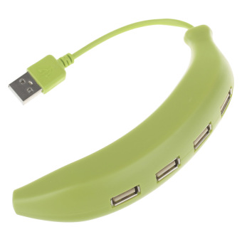 ZUNCLE Stylish Banana Style (8cm-Cable) USB 2.0 4-Port Hub (Green)