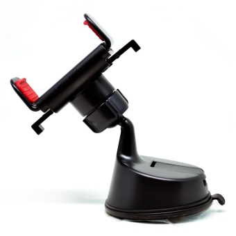 360 Rotation Car Suction Cup Mount Smartphone Holder - Hitam