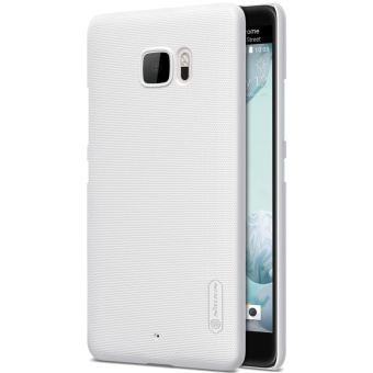 Nillkin Super Frosted Shield with Screen Protector Matte Ultra Thin PC Hard Back Case Cover for HTC U Ultra (White) - intl