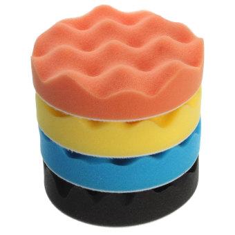 4Pcs 5 inch Buffing Polishing Sponge Pads Kit For Car Polisher Buffer