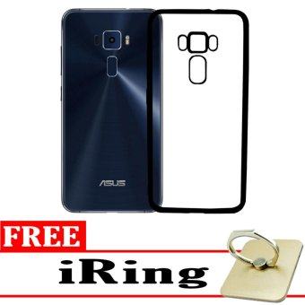 Softcase Silicon Jelly Case List Shining Chrome for Asus Zenfone 3 ZE552KL – Black + Free