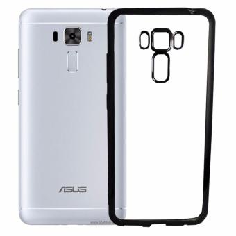 Softcase Silicon Jelly Case List Shining Chrome for Asus Zenfone 3 Laser ZC551KL – Black