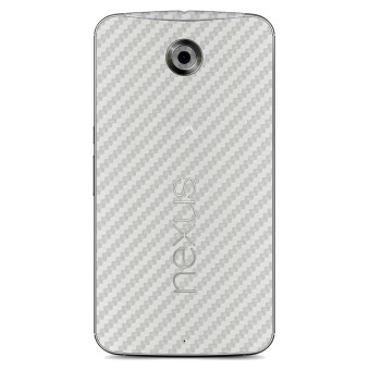 9Skin Premium Skin Protector Motorola Nexus 6 - Carbon Texture - Putih