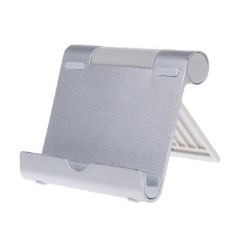 ZUNCLE Fashion Universal Desktop Aluminium Alloy iPad/ iPhone Holder Stand(Silver)