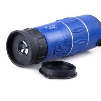 16 x 52 Zoom Monocular Telescope Low Light Level Night Vision Optics Zoom Lens with Compass Blue