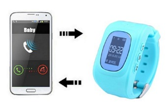 2Cool Kids GPS Watch with Call Function SOS Positioning Kids Christmas Gift Blue Color