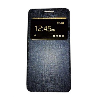 Ume Flip Shell / FlipCover for Samsung Galaxy J1 Ace J110 Leather Case / Sarung HP / View - Biru Tua