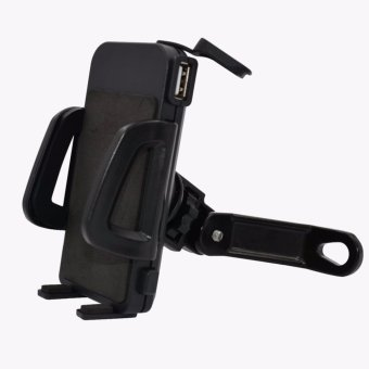 uNiQue Holder Motor With USB Charger Smartphone for Motorcycle - Spion Holder Motor Charger Aki Untuk. >>>>