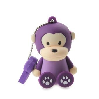ZUNCLE Lovely Cartoon Monkey Style USB 2.0 Flash Memory Drive 8GB Stick (Purple)